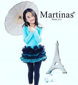 Martinas Girls Long Sleeve Tutu and Leggings Outfit
