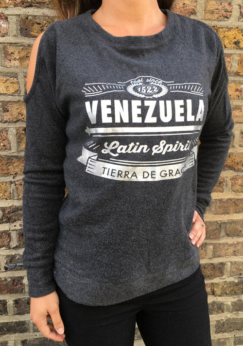 "RetroCaracas Ladies ""Tierra de Gracia"" Sweatshirt"