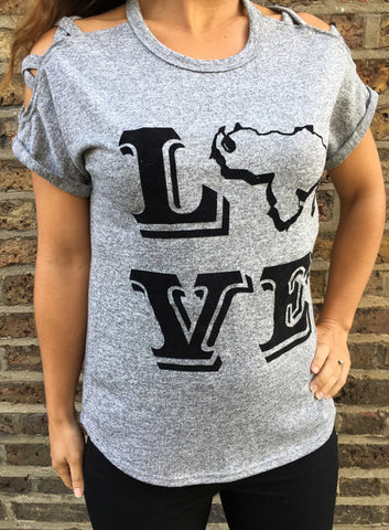 "RetroCaracas Ladies ""Love"" t-shirt"