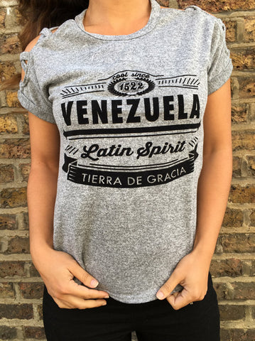 "RetroCaracas Ladies ""Tierra de Gracia"" t-shirt"
