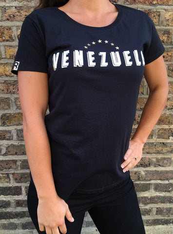 "RetroCaracas Ladies ""Venezuela"" T-Shirt - Size M"