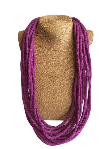 Udon Purple Multistrand Necklace