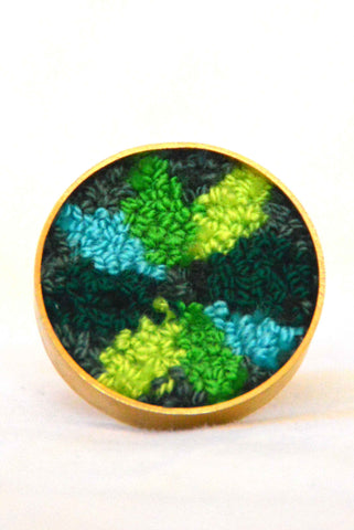 Wayuunaiki Large Tapestry Round Ring