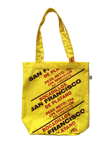 RetroCaracas Yellow Tote Bag - Bocadillos San Francisco