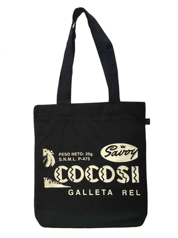 RetroCaracas Black Tote Bag - Cocosete