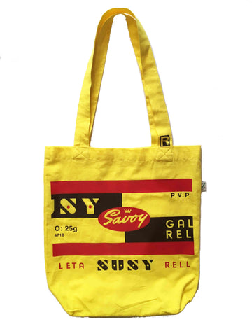 RetroCaracas Yellow Tote Bag - Susy
