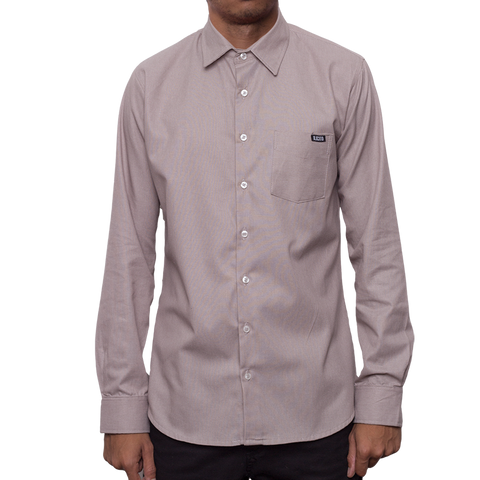 Movimiento Ilicito Grey Long Sleeve Dress Shirt