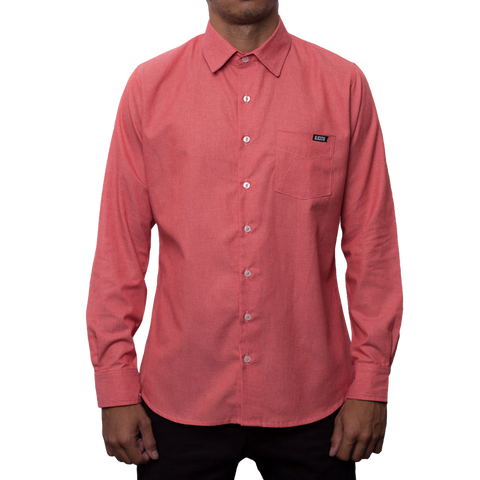 Movimiento Ilicito Guava Long Sleeve Dress Shirt