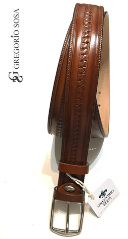 Gregorio Sosa Honey Brown Troquel Belt