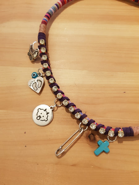 Moda Maca Baby Charms Purple Necklace