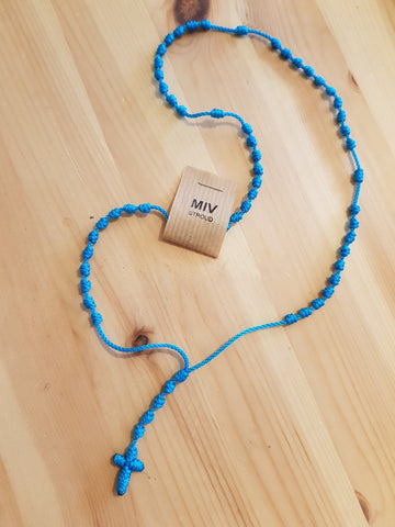 Nudes Cord Knotted Thread Rosary - MORE COLOURS AVAILABLE