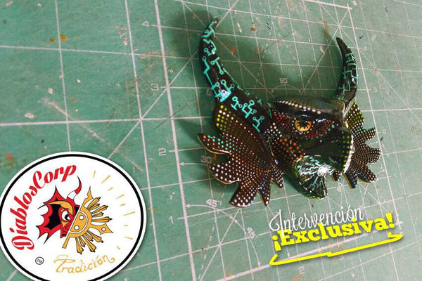 Diablos Corp hand painted mask - Cyber Buha