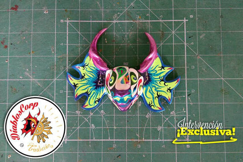 Diablos Corp hand painted mask - El Pulpo