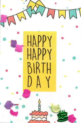 "SFD ""Happy Happy Birthday"" Mini Postcard"