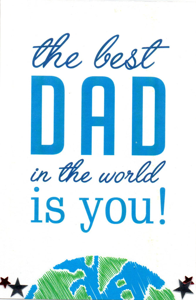 "SFD ""The Best Dad in the World is You!"" Mini Postcard"