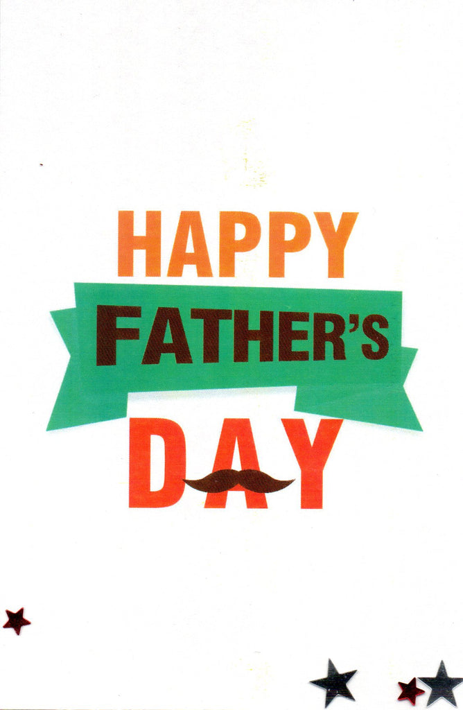 "SFD ""Happy Father´s Day"" Mustache Mini Postcard"