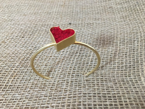 Wayuunaiki Heart Bracelet - AVAILABLE IN BLACK