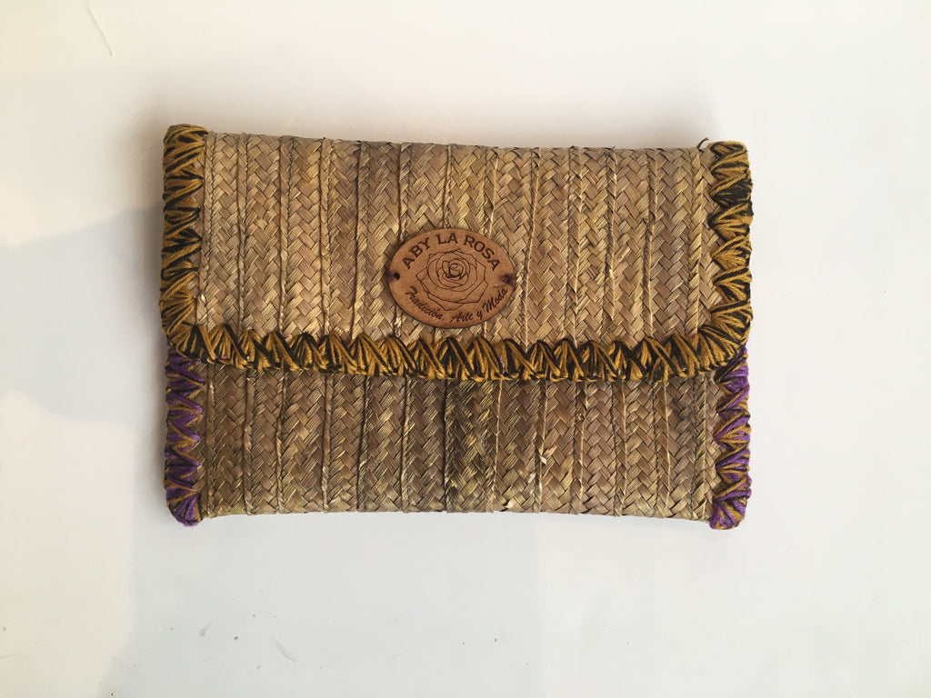 Aby La Rosa Clutch Bag Antique Gold