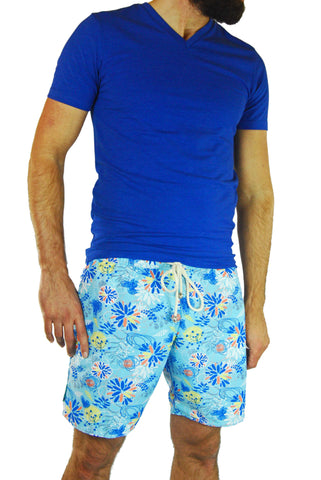 Vieiras y Arenas Men's Floral Swimming Shorts