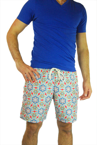 Vieiras y Arenas Men's Kaleidoscope Swimming Shorts