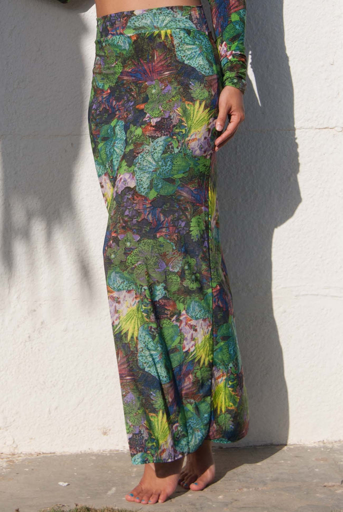 Mi Firma Outfit Maxi Skirt Lillypad Multi Green