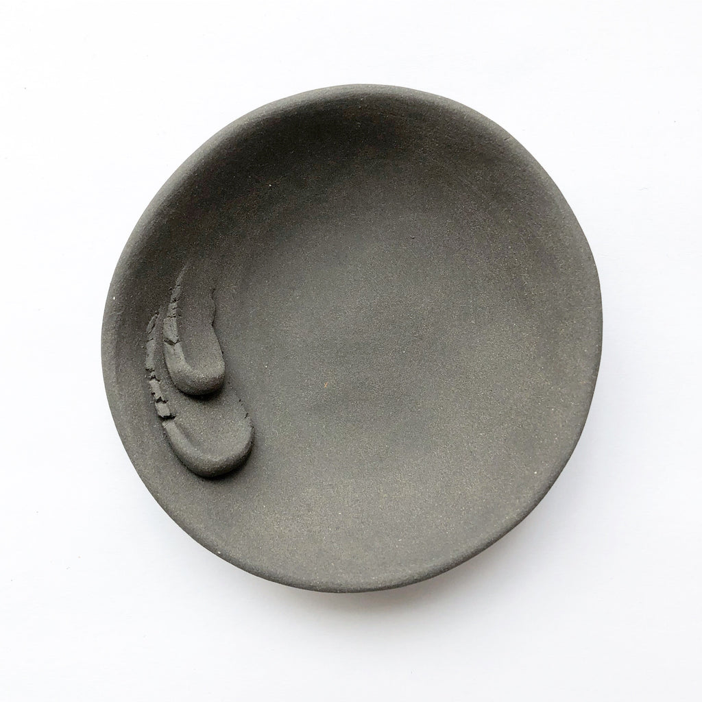 Black Porcelain Trinket Dish