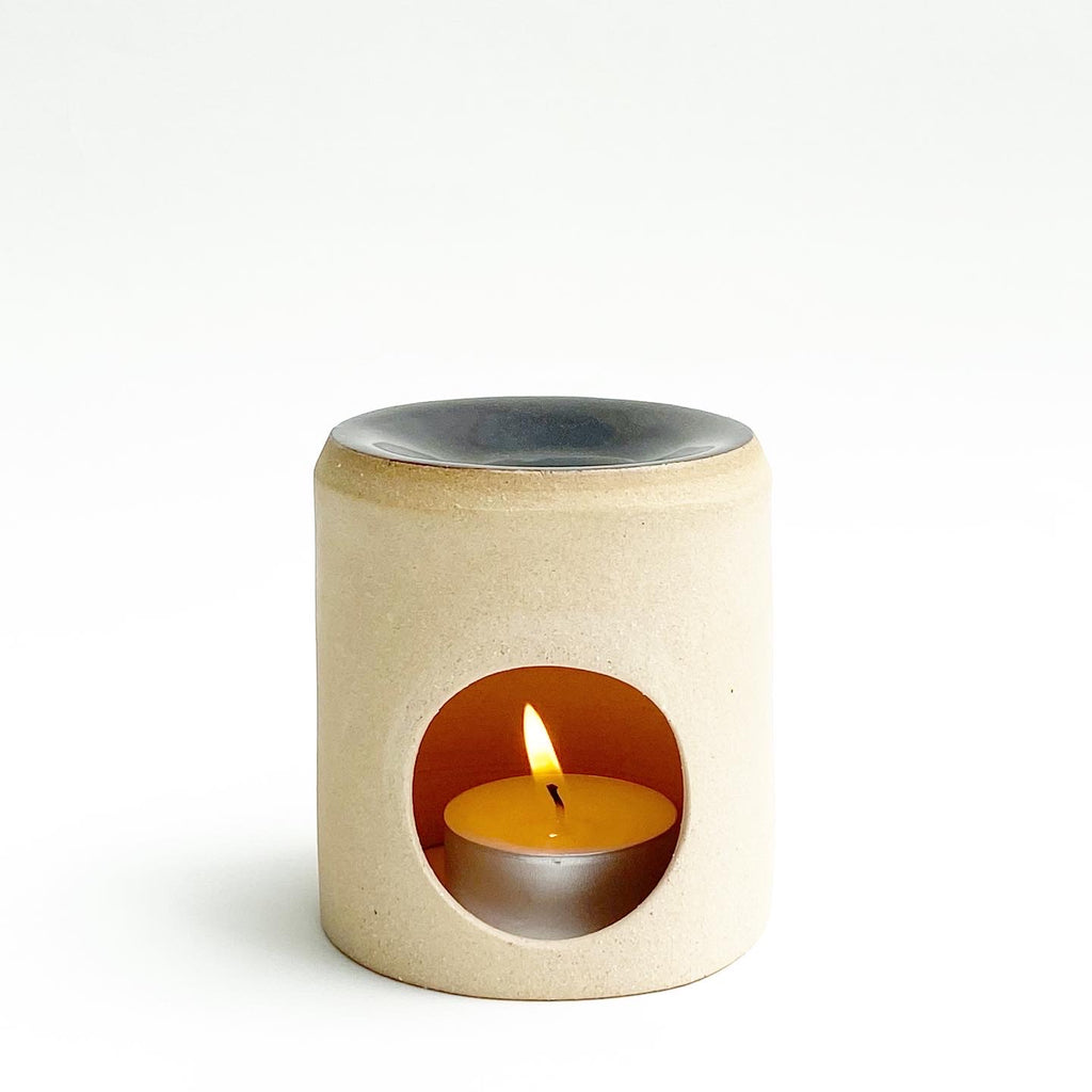 Buff Stoneware Oil Burner