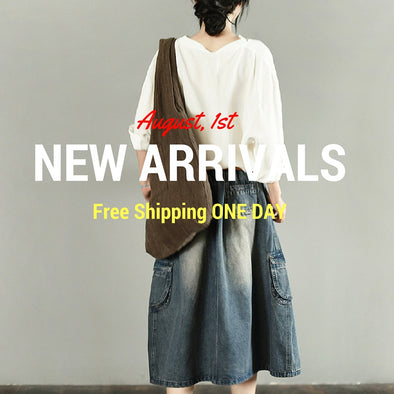 August, 1st New Arrivals Free Shipping One Days