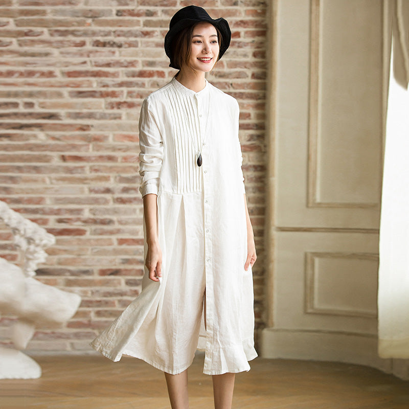 3f070fb2f6d5 How To Wear White Linen Dress