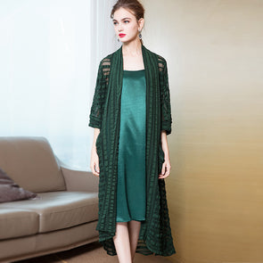 Women Loose Pure Color Outfit Fashion Spring Coat 1933