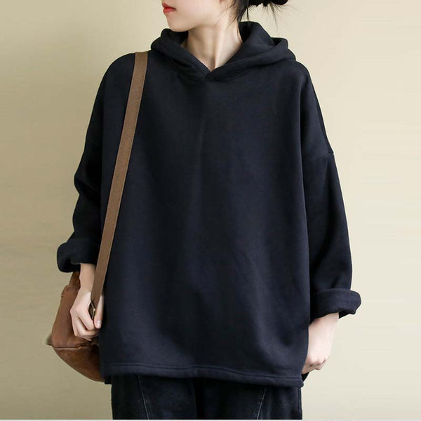 Women's Plus Size Loose hooded Fleece