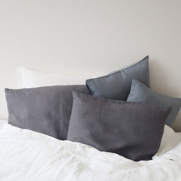 Linen Pillow Case With Envelope Closure