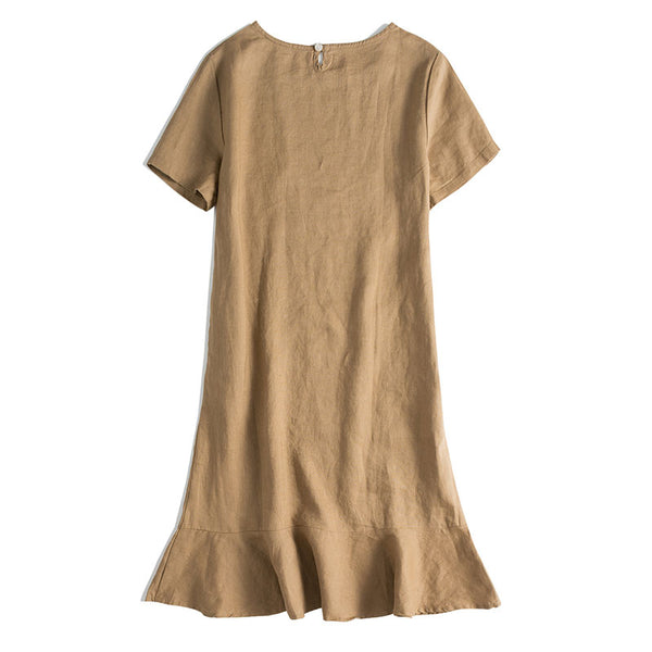 100% Linen Dresses For Women