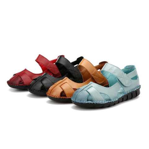 Blue/Black/Red/Yellow Comfortable Summer Layies Sandals Women Shoes AHA701