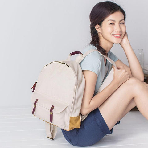 Cotton Linen Canvas Backpack 14