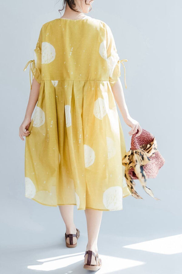 Chiffon High Waist Lovely Loose Casual Doll Dress Woman Clothes - FantasyLinen