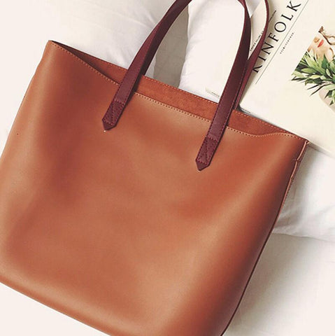 Casual Single Shoulder Tote Bag Leather Women bag