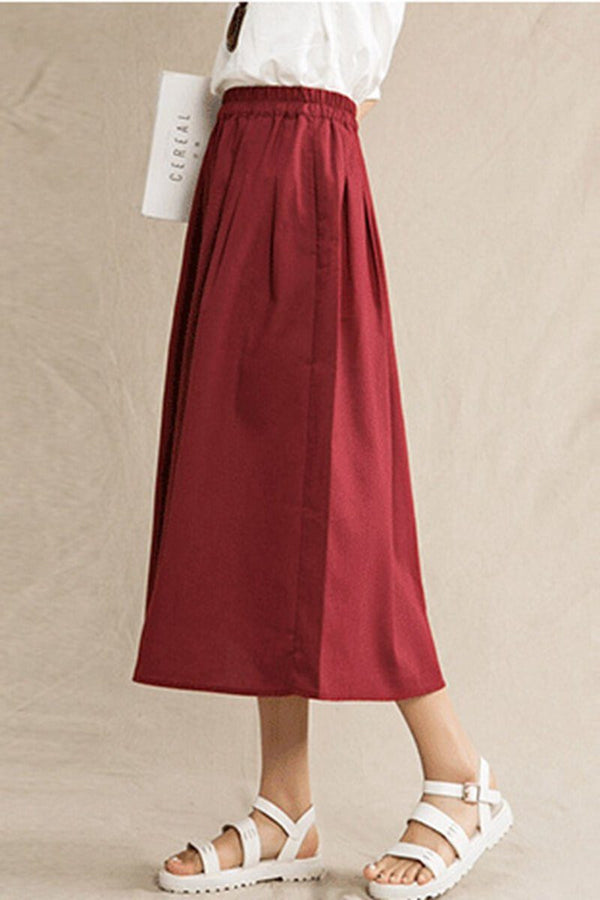 Plus Size Vintage Cotton Linen Skirts Women Clothes - FantasyLinen