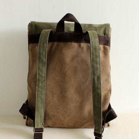 FantasyLinen Handmade Vintage Canvas Backpack, Literary Casual School Bag B0004 - FantasyLinen
