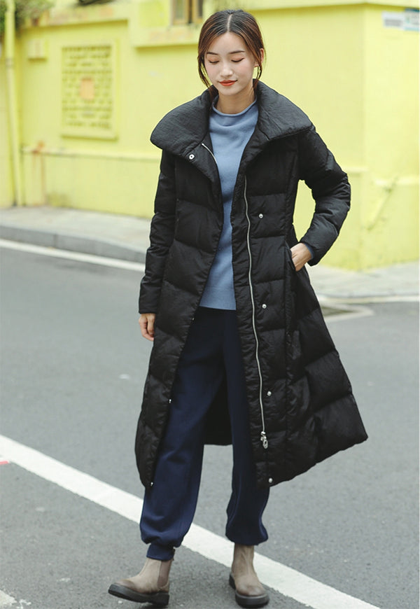 Casual Loose Long Down Coat Women Winter Outfits Y81020