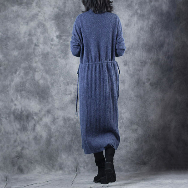 Vintage Loose High Neck Base Sweater Dresses For Women W609