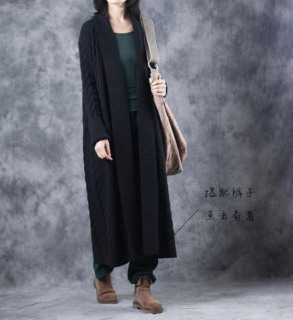 Loose Thicken Sweater Long Coat Women Casual Outfits W917