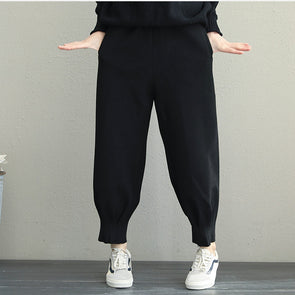 Korea Style Women Casual Pants Winter Harem Trousers Q1932