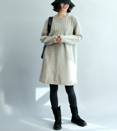 Women Long Loose Casual Sweater Winter Tops M26110