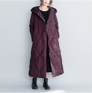 Cute Hoodie Long Thicken Cotton Winter Coat For Women C26111