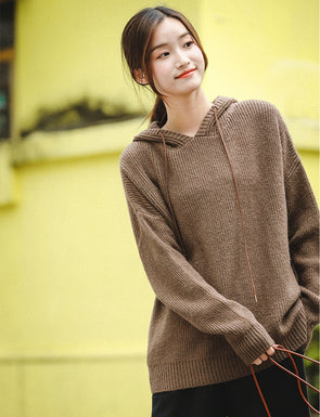 Cute Loose Hoodie Sweater Fleece Women Casual Tops Z81037