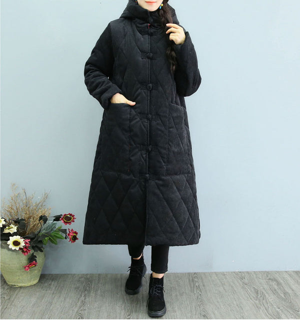 Vintage Hoodie Loose Winter Coat Women Thick Outfits 1323