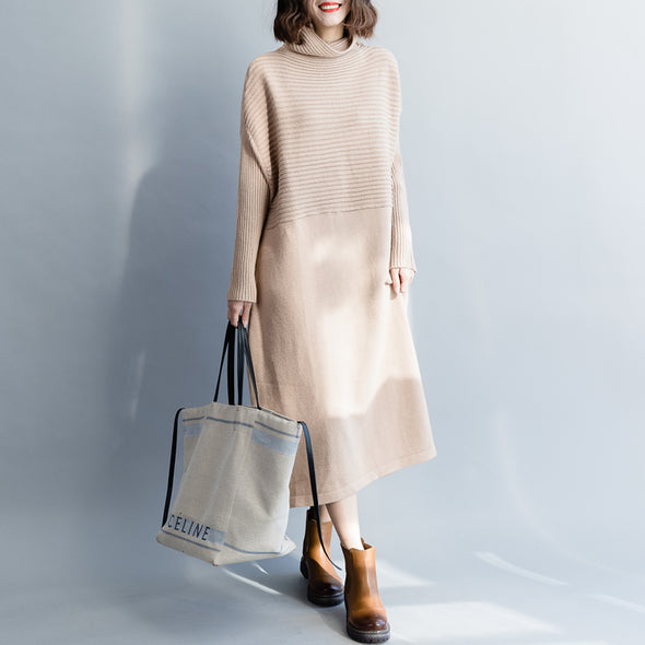 Casual High Neck Loose Sweater Dresses For Women Q3125