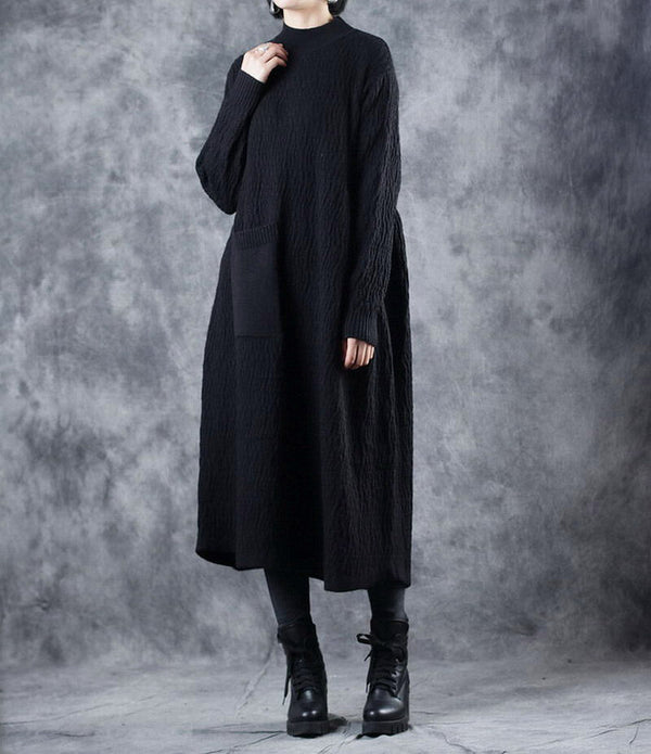 Elegant Thick Maxi Sweater Dresses For Women W8730