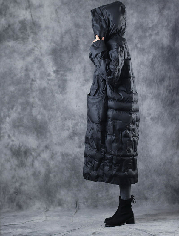 Women Vintage Loose Long Winter Coat Casual Thick Outfits W2556